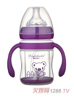 馨菲宝贝奶瓶直筒型紫色