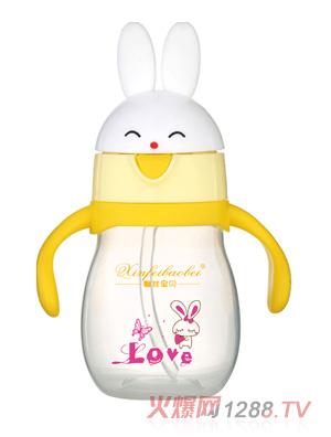 馨菲宝贝婴儿奶瓶小兔黄色