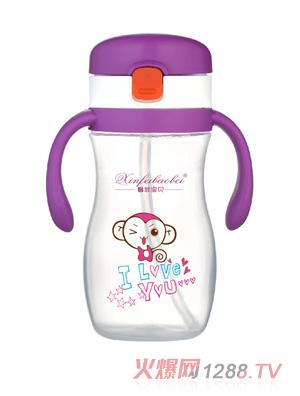 馨菲宝贝婴儿奶瓶小猴紫色