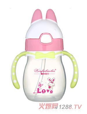 馨菲宝贝婴儿奶瓶小兔粉色