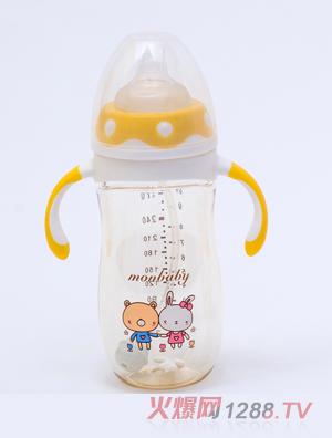 盟宝企鹅型PPSU奶瓶黄色240ml