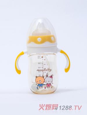 盟宝企鹅型PPSU奶瓶-黄色210ml