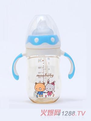 盟宝企鹅型PPSU奶瓶-蓝色210ml