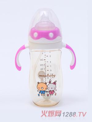 盟宝企鹅型PPSU奶瓶紫色240ml