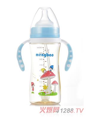 盟宝小蛮腰PPSU奶瓶蓝色