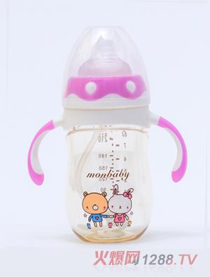 盟宝企鹅型PPSU奶瓶-紫色210ml