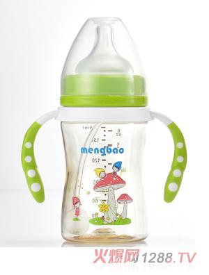 盟宝小蛮腰PPSU奶瓶绿色