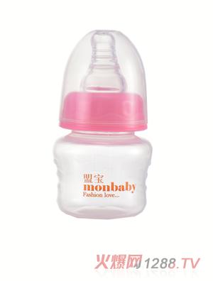 盟宝玻璃果汁奶瓶-粉色