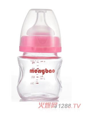 盟宝PP果汁奶瓶粉色