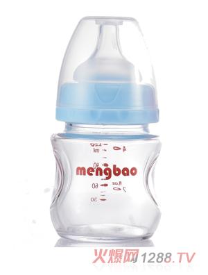 盟宝PP果汁奶瓶蓝色