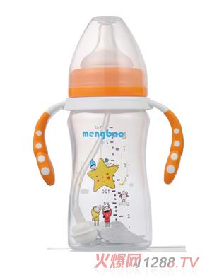 盟宝小蛮腰高透PP奶瓶240ml-橙色