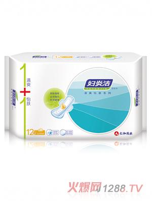 仁和药业妇炎洁卫生巾-夜用棉柔12片