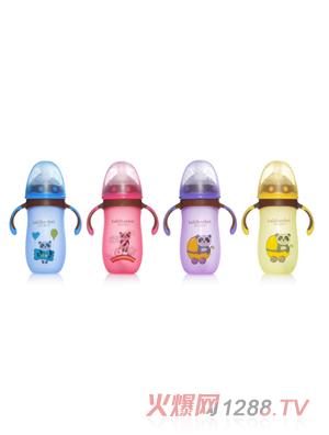 芭芘宝贝高硼硅包胶玻璃奶瓶组合大