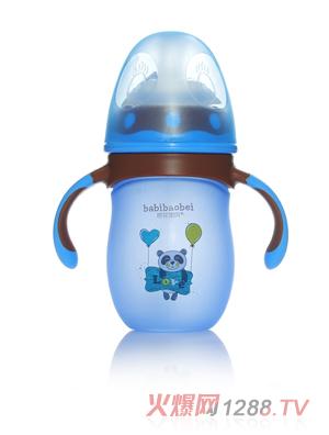 芭芘宝贝高硼硅包胶玻璃奶瓶 160ml