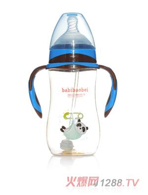 芭芘宝贝PPSU宽口径奶瓶300ml蓝色