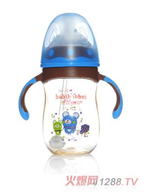 芭芘宝贝PPSU宽口径奶瓶 蓝色180ml