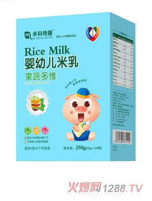 米科特膳婴幼儿米乳-果蔬多维盒装