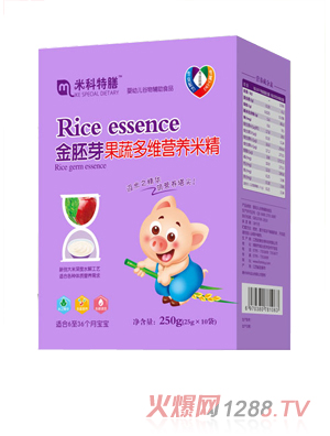 米科特膳金胚芽果蔬多维营养米精盒装