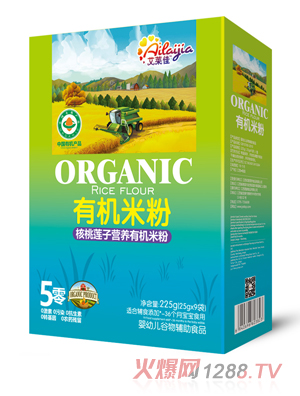 艾莱佳核桃莲子营养有机米粉盒装