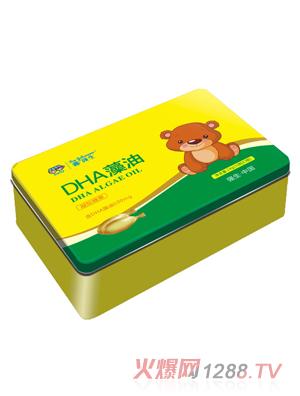 鑫强生DHA藻油凝胶糖果(铁盒装)