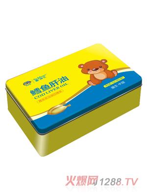 鑫强生鳕鱼肝油凝胶糖果(铁盒装)