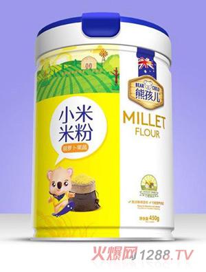 熊孩儿小米米粉-胡萝卜果蔬罐装