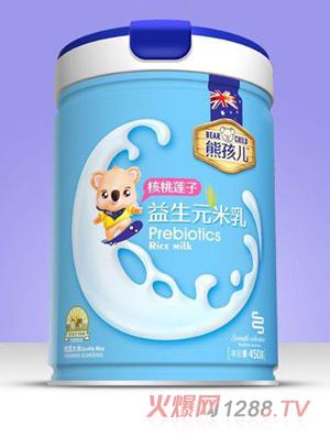 熊孩儿益生元米乳-核桃莲子罐装