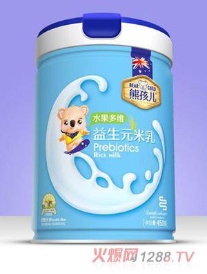 熊孩儿益生元米乳-水果多维罐装