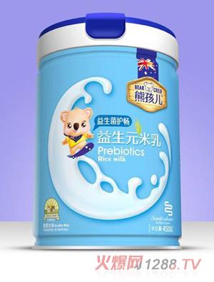 熊孩儿益生元米乳-益生菌护畅罐装