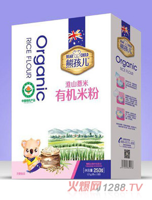 熊孩儿有机米粉-淮山薏米盒装