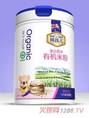 熊孩儿有机米粉-淮山薏米罐装