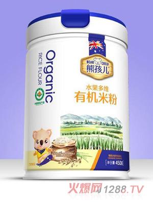 熊孩儿有机米粉-水果多维罐装