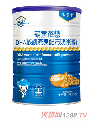 彤博士萌童蓓慧DHA核桃燕麦配方奶米粉