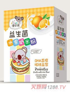 澳贝熊益生菌水果奶米粉-DHA香橙核桃益智盒装