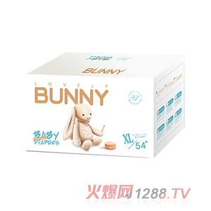 邦尼兔绵柔安抚纸尿裤XL54