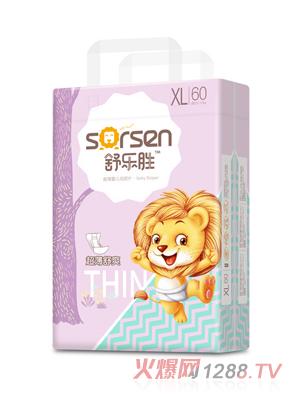 舒乐胜超薄婴儿纸尿片大包XL60