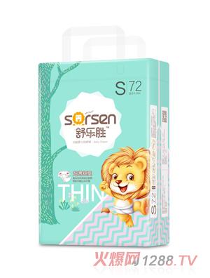 舒乐胜环腰婴儿纸尿裤大包S72