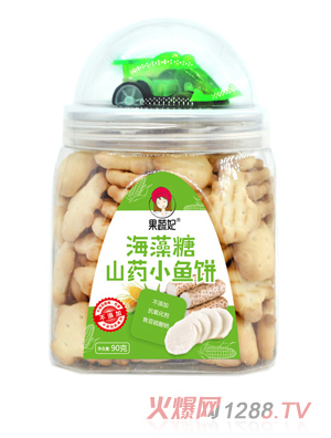 果蔬妃海藻糖山药小鱼饼